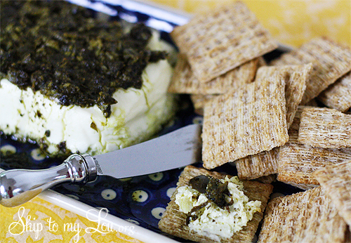 warm-basil-pesto-cream-cheese-spread